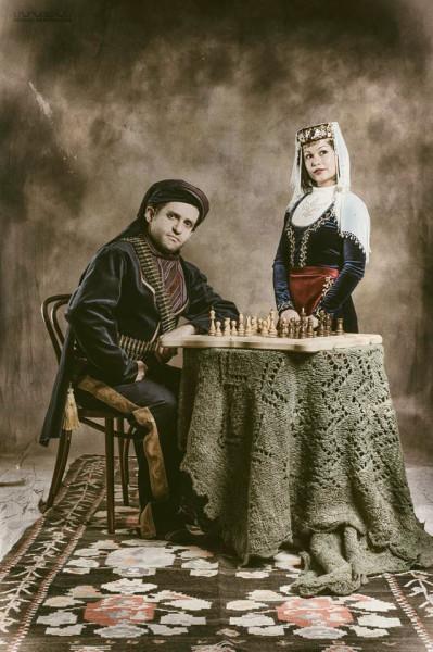 Шахматист Левон Аронян с женой Арианной