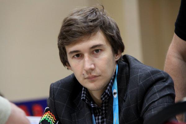 Сергей Карякин во время международного шахматного турнира Tata Steel Chess Tournament 2016 (Вейк-ан-Зее, Нидерланды)