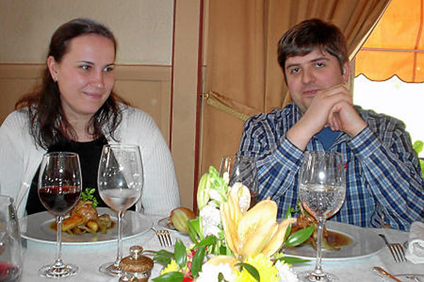 Шахматист Пётр Свидлер с женой Ольгой