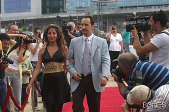 Веселин Топалов с женой Кристиной Санчеч