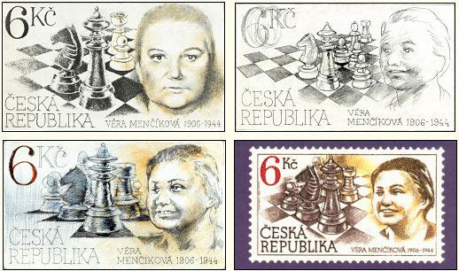В честь Веры Менчик, выпущено большое количество почтовых марок в Чехии