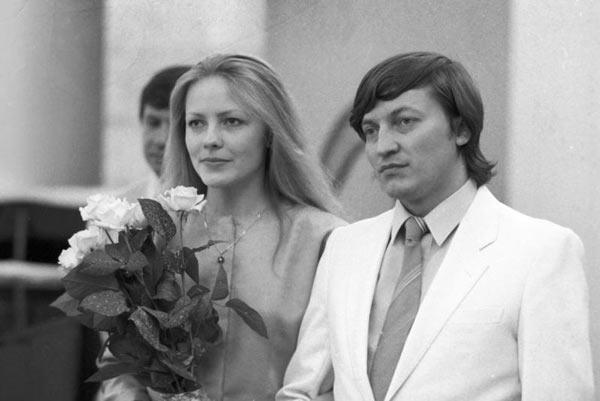 Шахматист Анатолий Карпов и его вторая жена Наталья Буланова