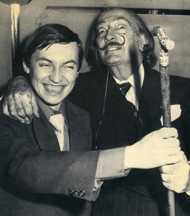 Анатолий Карпов и испанский художник Сальвадор Дали (Нью-Йорк, 1979 год)