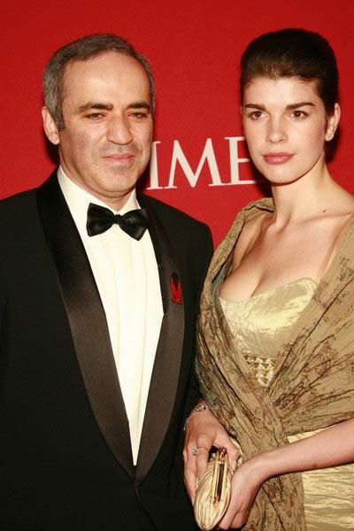 Гарри Каспаров с третьей женой Дарьей Тарасовой