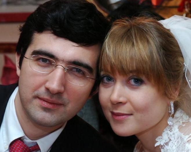 Владимир Крамник с женой Марией