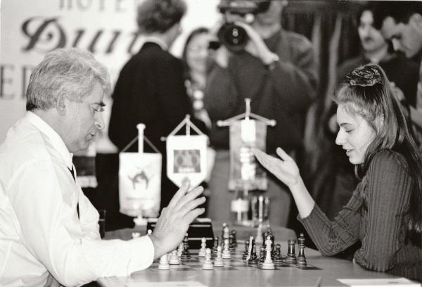 Борис Спасский и Юдит Полгар, Бадапешт, 1993 год