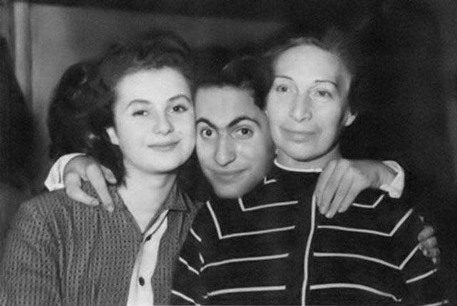 Михаил Таль с женой Салли Ландау и мамой Идой Таль