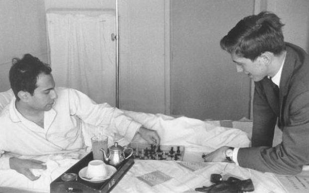 Михаил Таль и Бобби Фишер в больнице