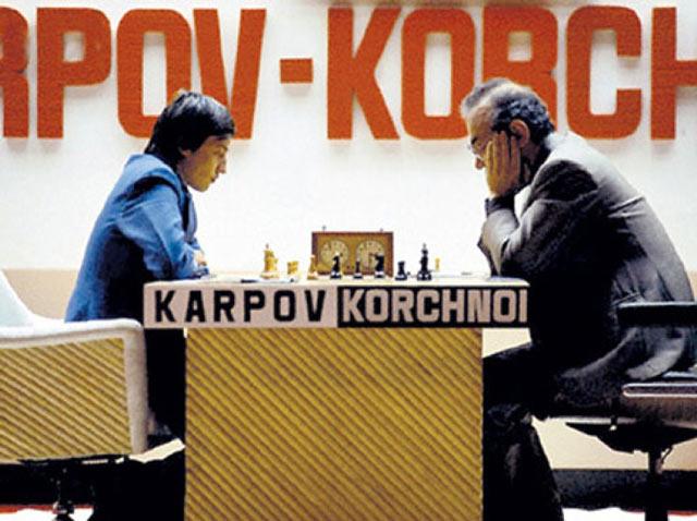 Анатолий Карпов и Виктор Корчной (Багио, 1978 год)