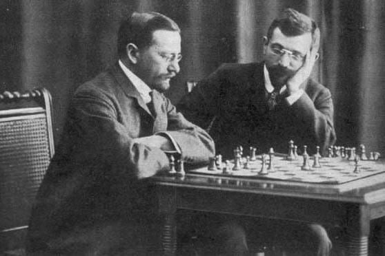 Зигберт Тарраш и Эмануэль Ласкер (Мюнхен, 1908 год)