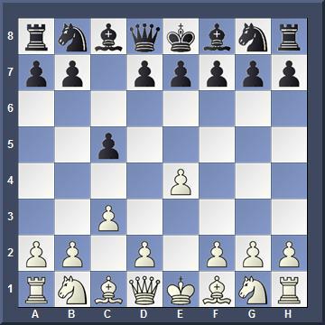 Вариант Алапина: 1. e4 c5 2. c3