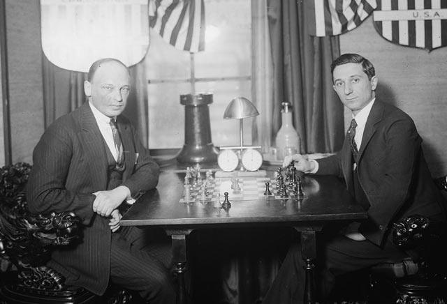 Савелий Тартаковер и Эдвард Ласкер (Нью-Йорк, 1924)