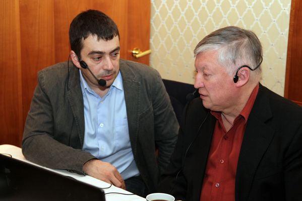 Марк Глуховский и двенадцатый чемпион мира по шахматам Анатолий Карпов
