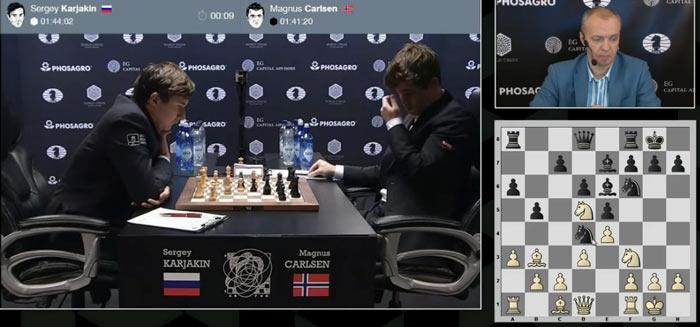 11 партия матча Карлсен - Карякин 2016