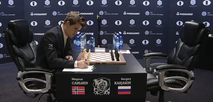 Карлсен - Карякин 2016 партия 12