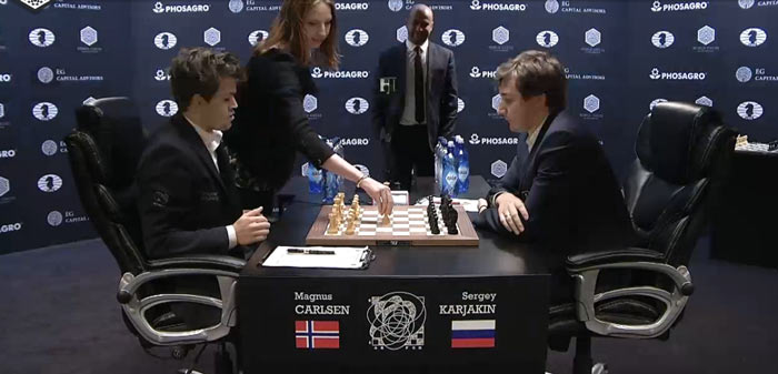 Испанская партия в 12-ой партии матча Карлсен - Карякин 2016