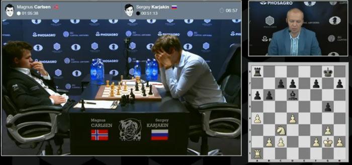 По всей видимости, Карякин выбирал между 20...Re8 и 20...f5