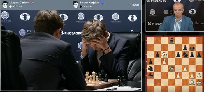 Грубая ошибка Карлсена и Карякина появился реальный шанс выиграть эту партию