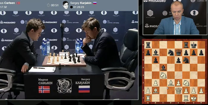 Уже после 12 хода белых, на доске возникла позиция, которую Сергей Шипов не смог найти в шахматной базе данных