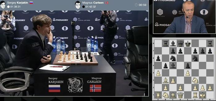 Карякин сделал свой ход и ожидает появления Карлсена