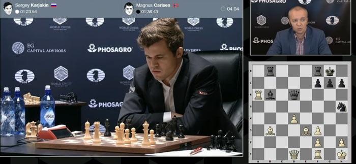 Карлсен первый раз задумался в девятой партии