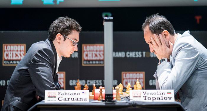 Фабиано Каруана и Веселин Топалов - турнир по шахматам Лондон 2016