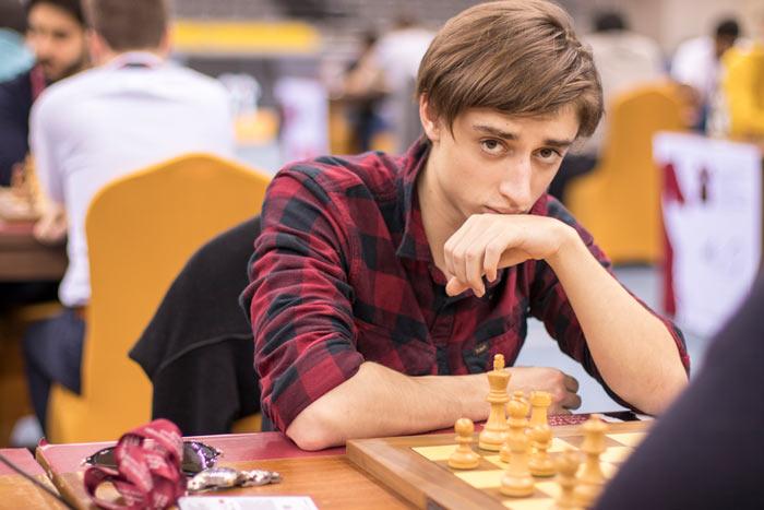 Шахматист Даниил Дубов - чемпионат мира по быстрым шахматам Доха 2016 (Катар)