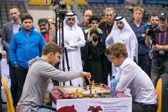 Чемпионат мира по блицу Доха 2016 (Катар) - Сергей Карякин и Магнус Карлсен