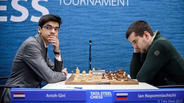 Аниш Гири (Нидерланды) и Ян Непонящий (Россия)