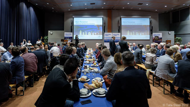 Банкет после турнира Tata Steel Chess 2017