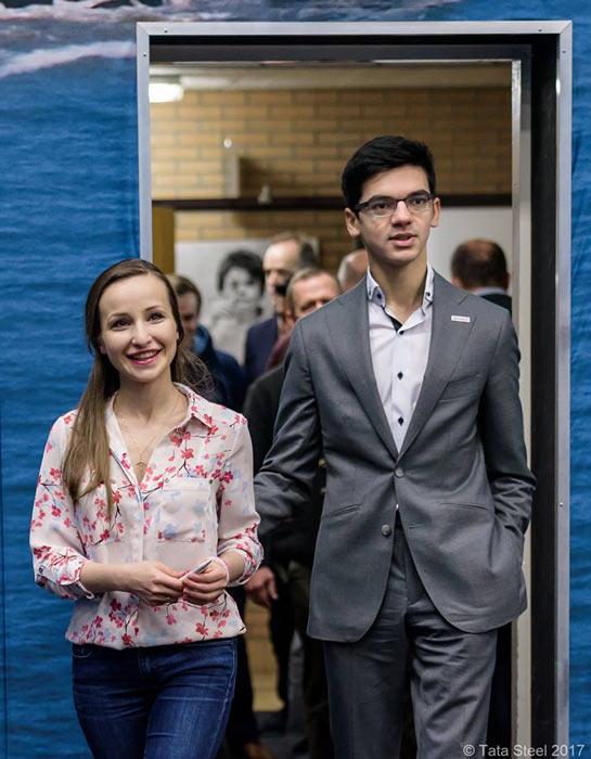 Супружеская пара - Софико Гурамишвили и Аниш Гири