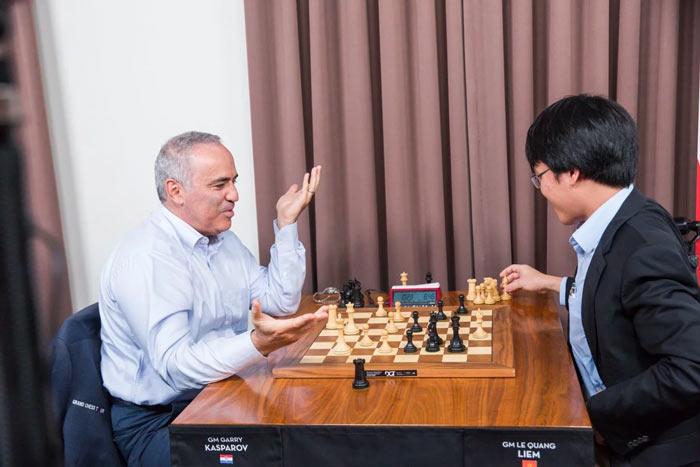 Гарри Каспаров на турнире Сент-Луис (август, 2017)