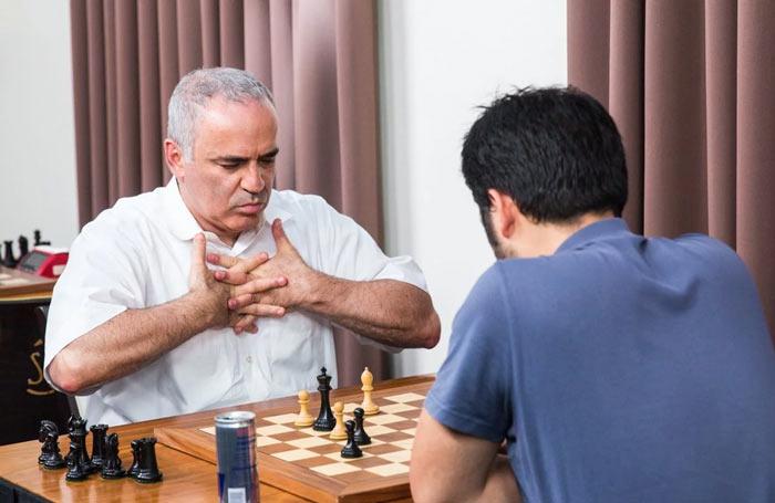 Гарри Каспаров и Хикару Накамура (Сент-Луис, 2017) турнир по блицу