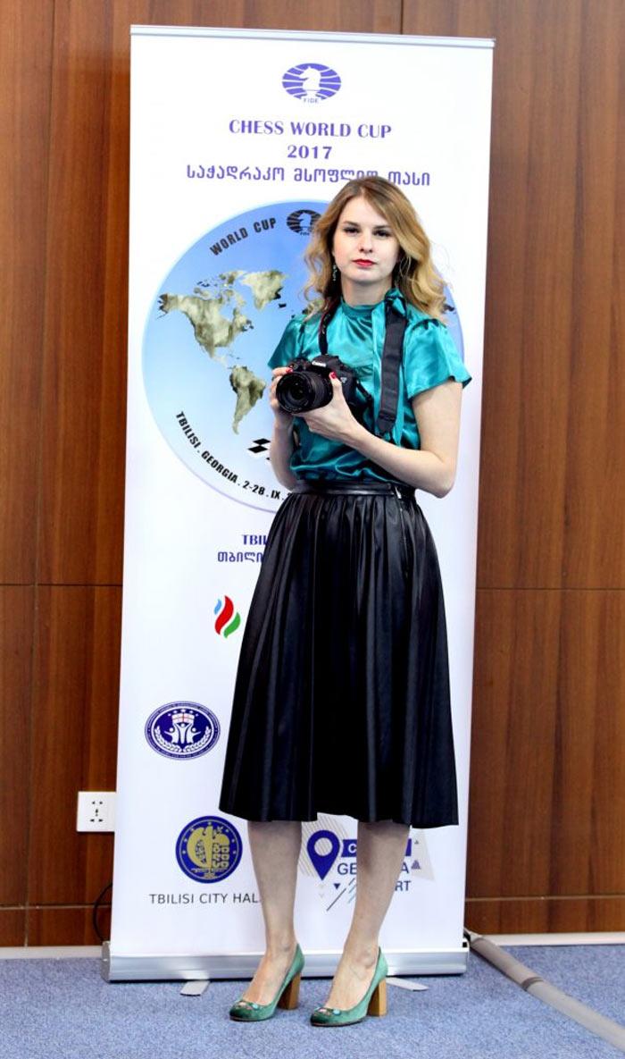 Этери Кублашвили – пресс-атташе РШФ (фото Анастасии Карлович)