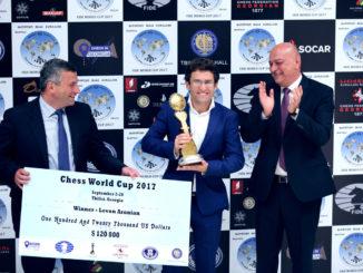 Победитель Кубка мира 2017 (Тбилиси, Грузия) Левон Аронян