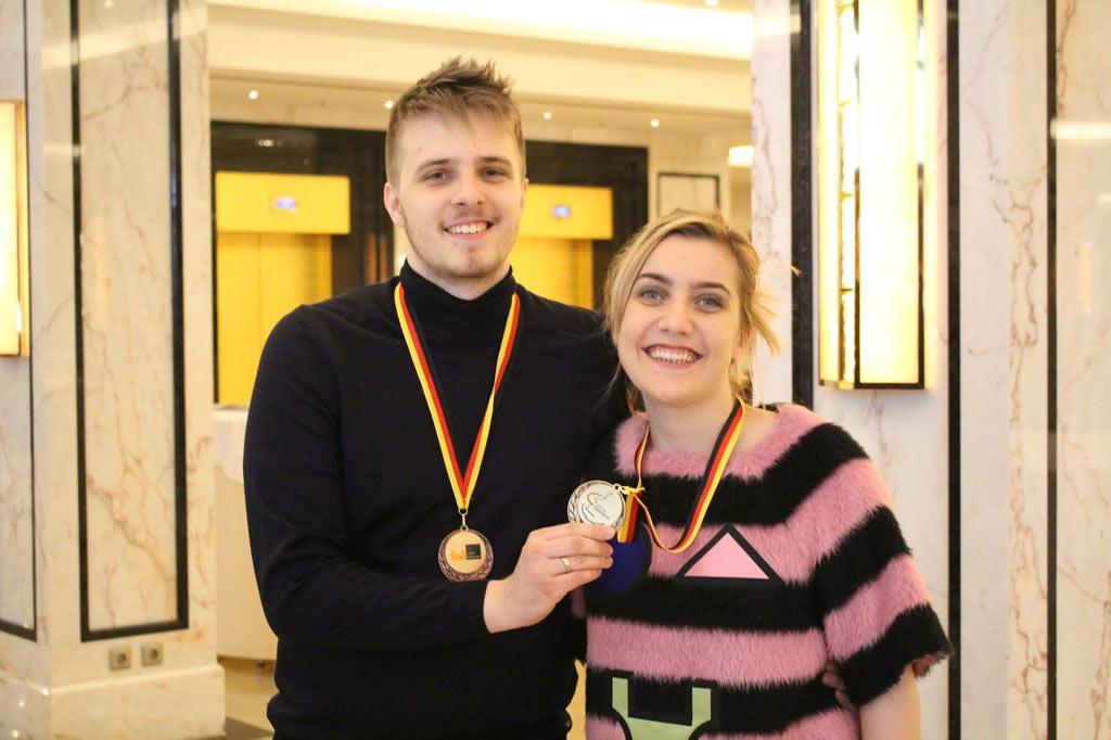 Рихард и Йована Раппорт - призёры чемпионата Германии 2017. Рихард - бронза, Йована - золото