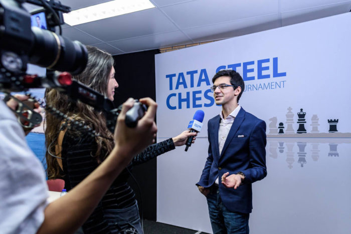 Аниш Гири на турнире Tata Steel Chess 2018