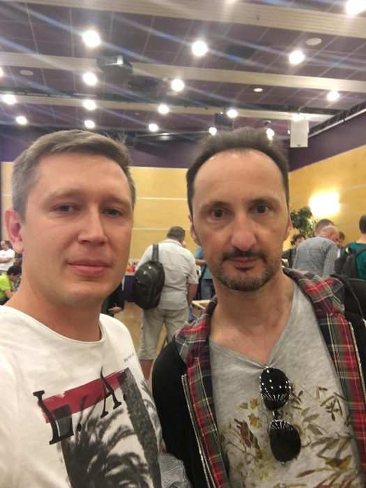 Шахматисты Артём Ильин и Веселин Топалов