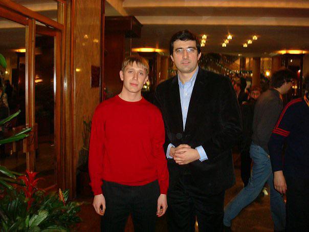 Артём Ильин и четырнадцатый чемпион мира Владимир Крамник