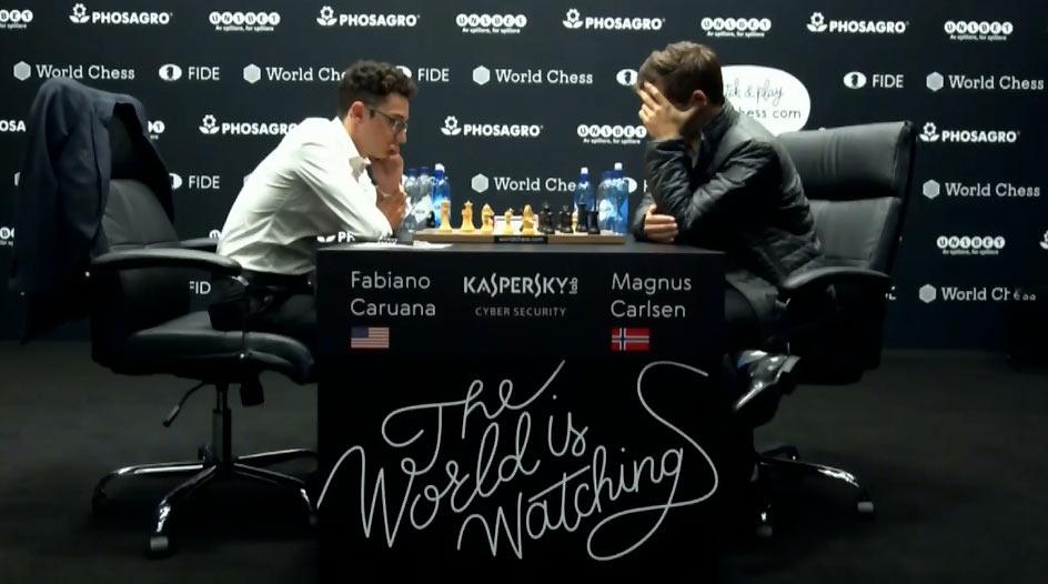 Фабиано Каруана и Магнус Карлсен 2018. Партия 1
