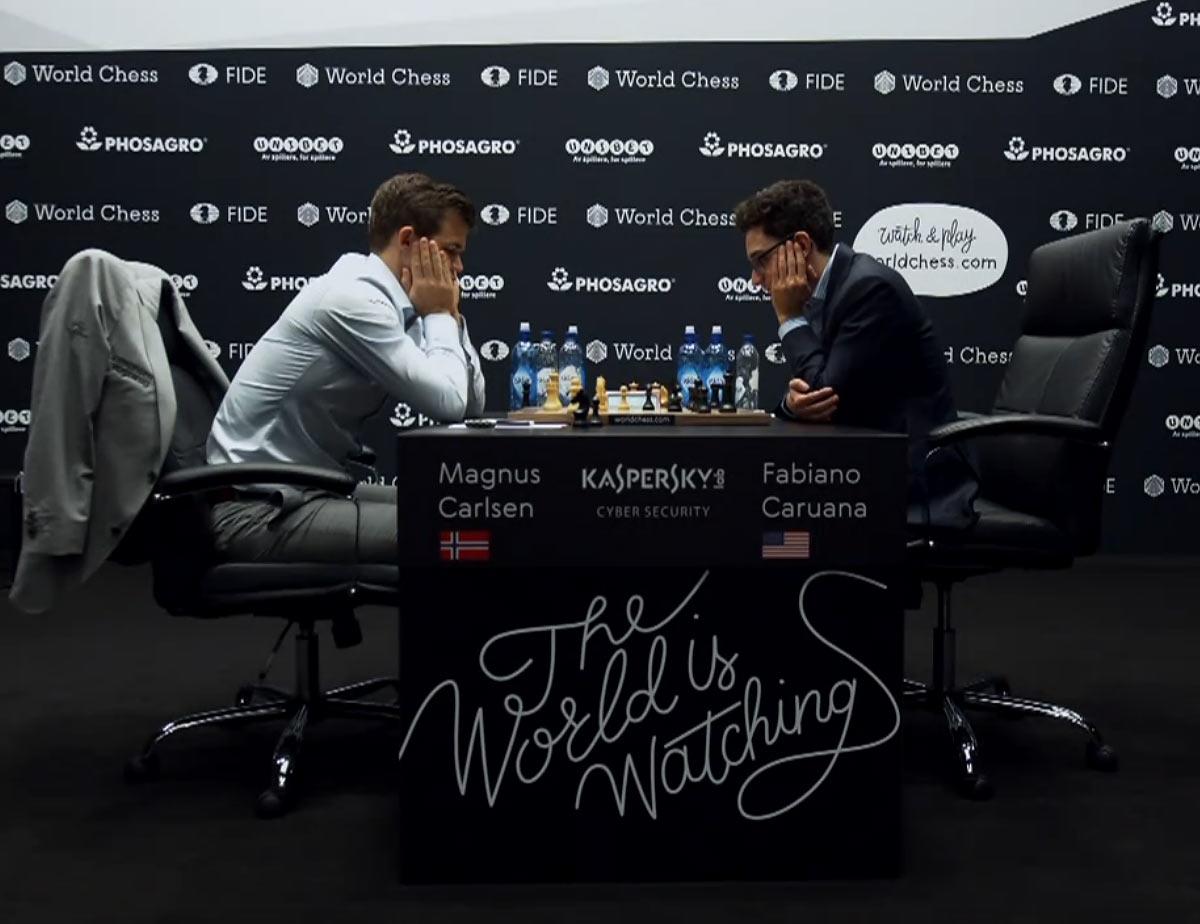 Матч за мировое первенство по шахматам Карлсен - Каруана 2018