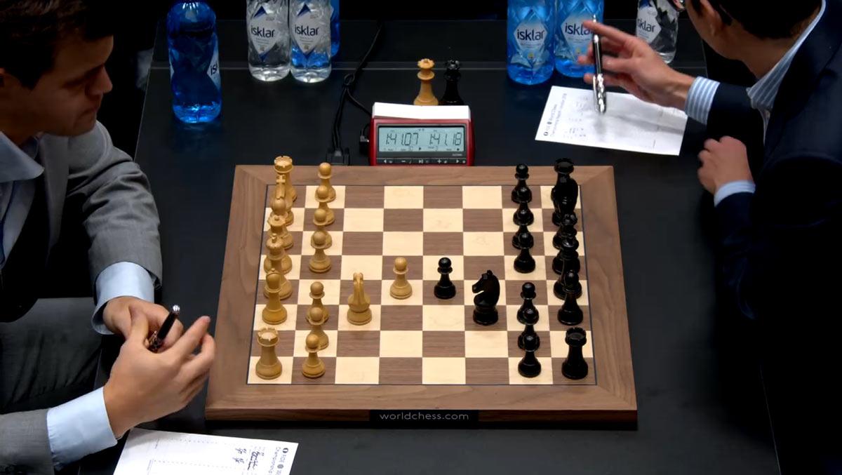 Русская партия уже встречалась в шестой партии матча Карлсен - Каруана 2018