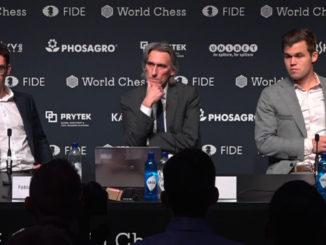 Матч Карлсен - Каруана 2018. Пресс-конференция после 12-ой партии