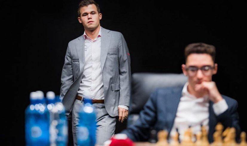 Матч Карлсен - Каруана 2018 за титул чемпиона мира по шахматам. Партия 2