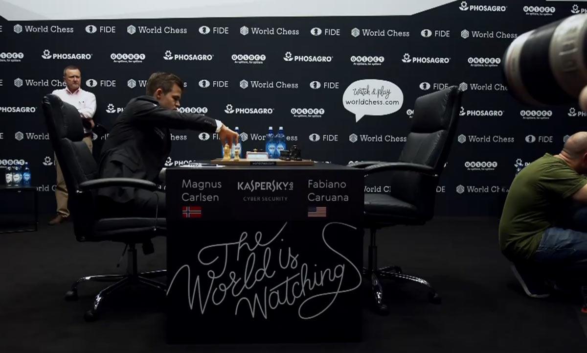 Матч Карлсен - Каруана 2018, партия 4