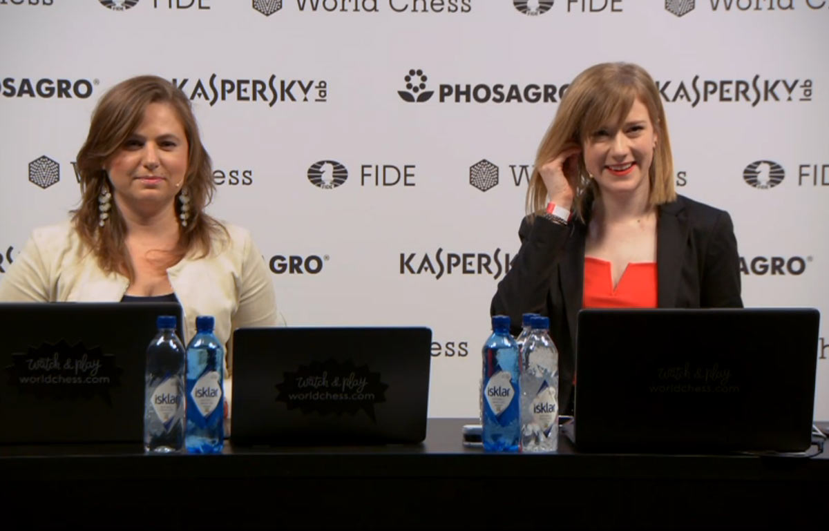 Из Лондона вещали Юдит Полгар и Анна Рудольф. Примечательно, что обе шахматистки родом из Венгрии