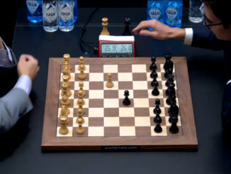 Матч Карлсен - Каруана 2018. Тай-брейк, партия 1