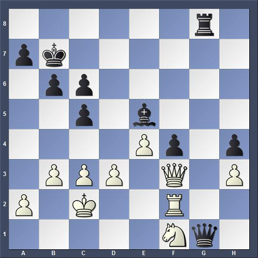 Позиция из первой партии матча Карлсен - Каруана 2018