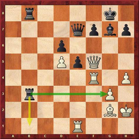 Во время прямой трансляции Сергей Шипов увидел выигрывающий ход за Свидлера - 31...Rxg3, к сожалению, этого хода за доской не увидел Петр Свидлер и сходил 31...Rb1