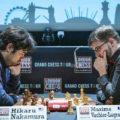 Хикару Накамура (США) и Максим Вашье-Лаграв (Франция). Финал London Chess Classic 2018